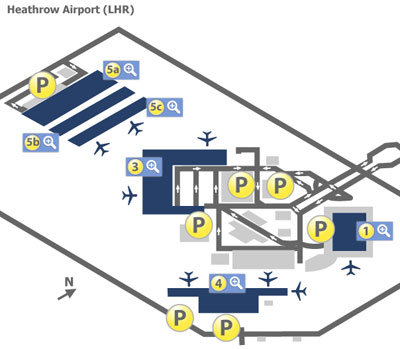 London Heathrow Airport Lhr Terminal Maps Map Of All Terminals